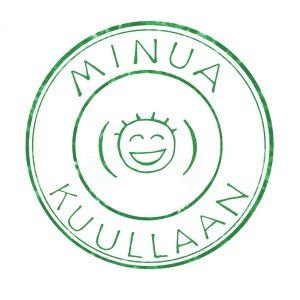 Minua kuullaan vihreä vesileima logo
